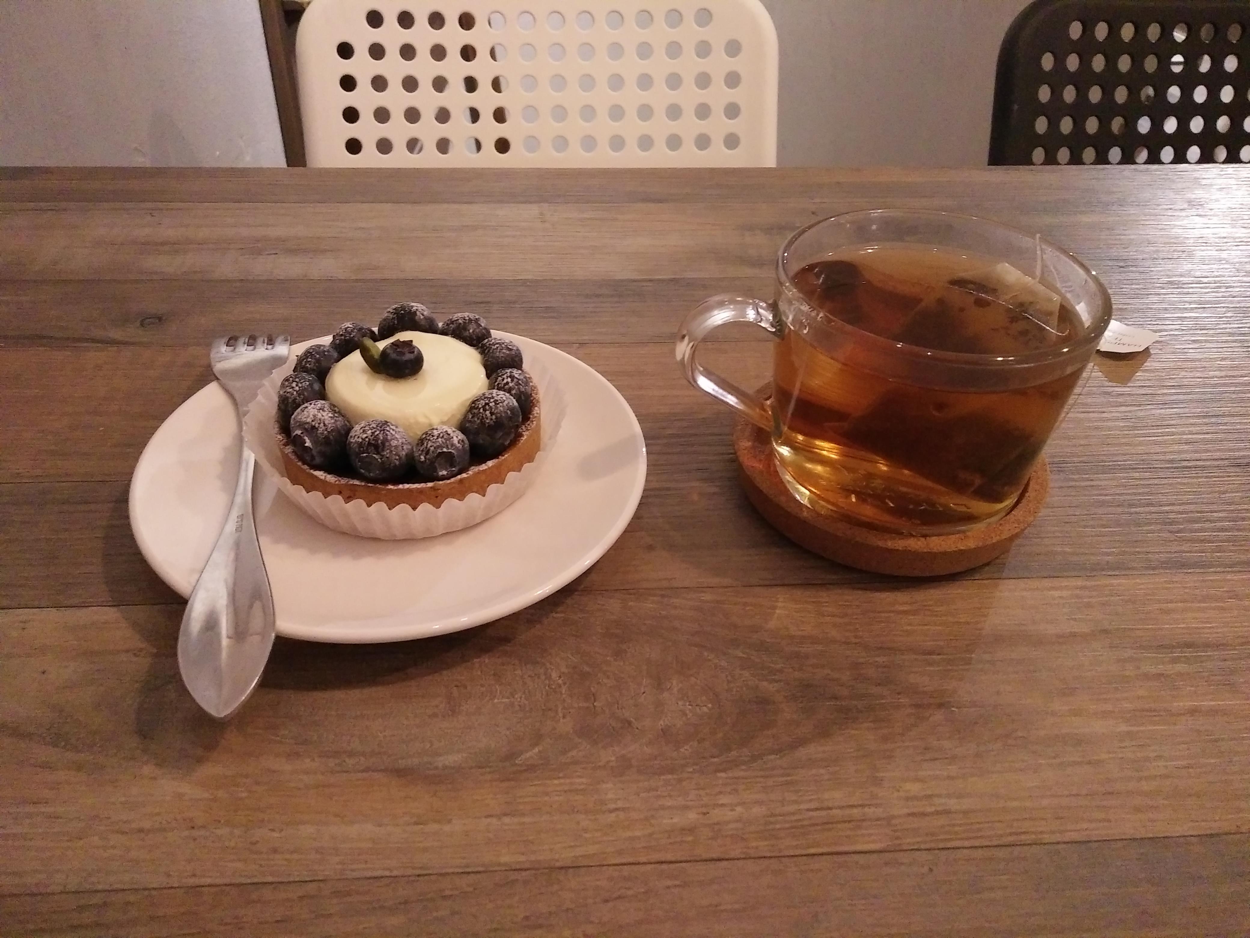 台北市南港昆陽站咖啡店 BOCY Patisserie & Bistro 寶希甜點好食光 藍莓塔 有機香草紅茶